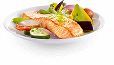 Actifry plate: vegetables and salmon recipe