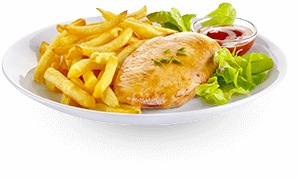 Actifry plate: french fries and chicken recipe